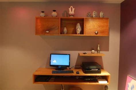 custom floating computer desk  schendorf fine
