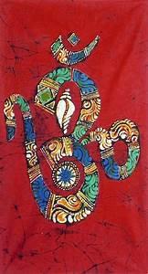 Chakra Chart Hindu Symbol Om With Shankh And Chakra
