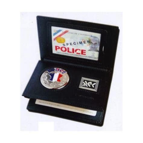 porte carte 3 volets nationale avec medaille et grade