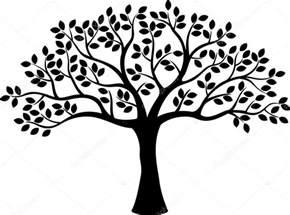 shadow lawn wedding silhueta de árvore vetor de stock tigatelu 53335539