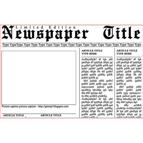 Newspaper Article Template Newspaper Article Template Template Business