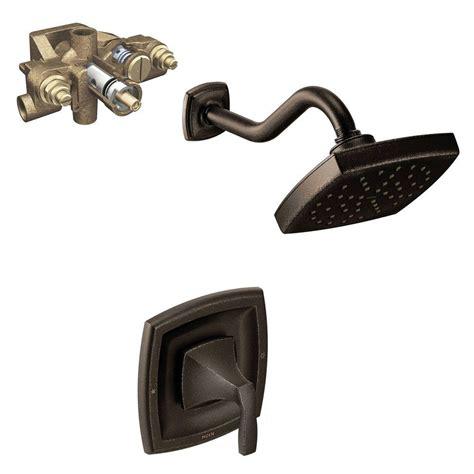 moen voss single handle 1 spray moentrol shower faucet