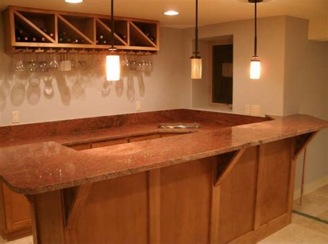 bar countertops other traditional basement other