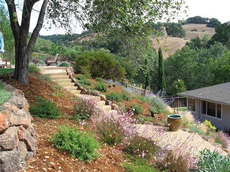 hillside slope creative hillside landscape ideas bistrodre porch and landscape ideas