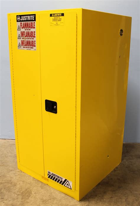 gas can storage cabinet refurbished justrite sure grip ex 896000 flammable safety
