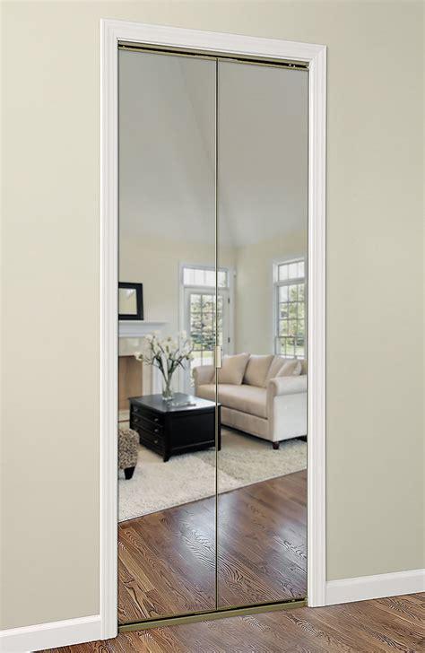 bypass closet doors modern bifold mirror door with cool mirror closet doors on