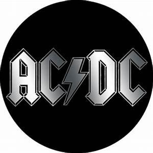 AC/DC Logo Metallic Button