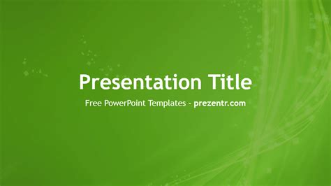abstract green powerpoint template prezentr