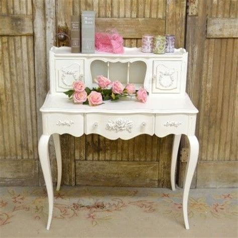 shabby chic writing desk petite writing desk in white with roses 875 00