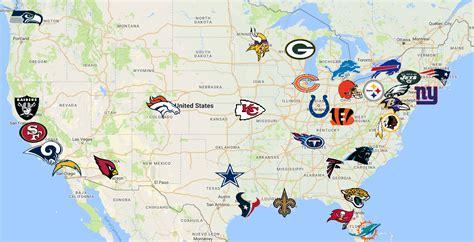nfl map teams logos sport league maps maps
