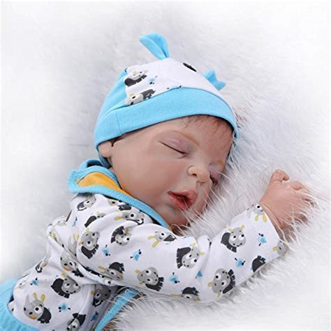 Durable Silicone Reborn Baby Sleeping Newborn Boy Alive