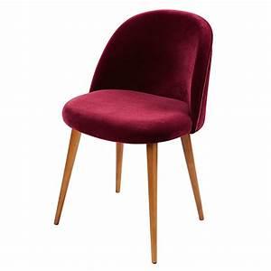 Chaise Velours Design : chaise vintage en velours bordeaux mauricette maisons du monde ~ Teatrodelosmanantiales.com Idées de Décoration