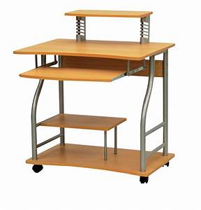 Metal and wood computer desk - Wooden computer table
