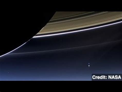 Nasa Captures Earth View From Saturn Youtube