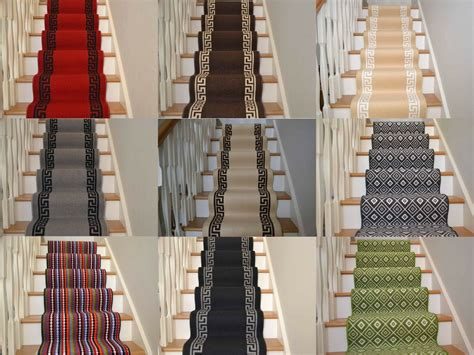 long narrow thin stairway staircase carpet runner