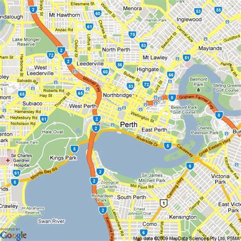 map  perth western australia hotels accommodation