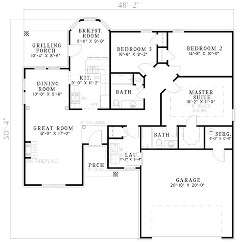open living house plans open plan living 5956nd architectural designs house