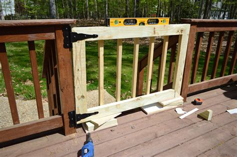 outdoor gate for deck stairs deckgate literally how to make a deck gate house 7227