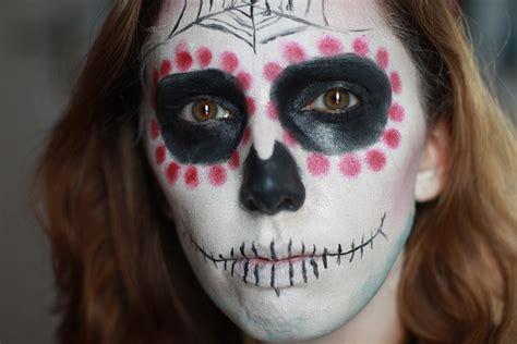maquillage sorcière fillette maquillage sp 233 cial tuto simple de la mexican skull quand beaut 233