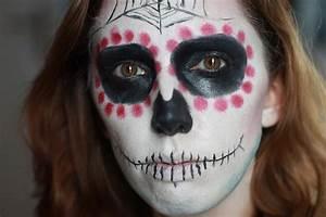 Maquillage D Halloween Pour Fille : maquillage sp cial halloween tuto simple de la mexican skull quand fanny blog beaut ~ Melissatoandfro.com Idées de Décoration