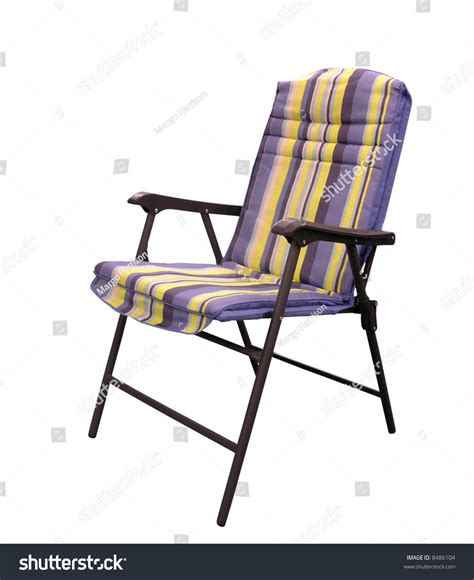 folding padded patio chair stock photo 8486104