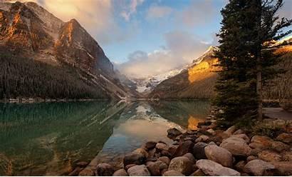 Park Sunrise Morning Banff National Canada Mountains