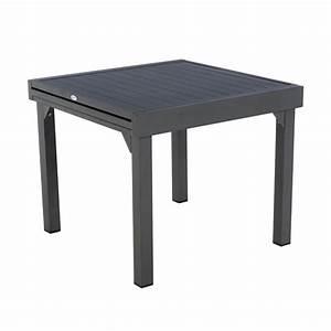 Table De Jardin Extensible Aluminium : table de jardin extensible aluminium piazza 180 x 90 cm graphite table de jardin eminza ~ Melissatoandfro.com Idées de Décoration