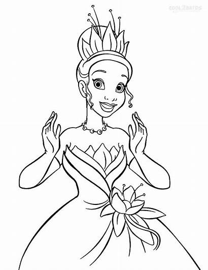 Tiana Princess Coloring Pages Printable Cool2bkids