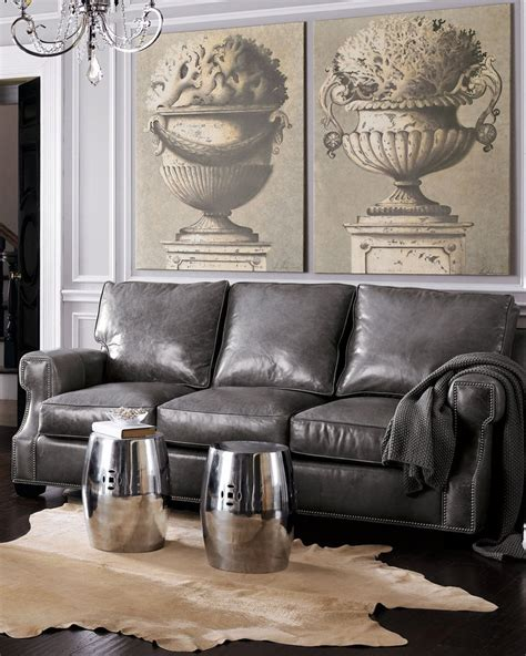 Grey Couches For Sale by Gray Leather Sofa On Sale Sofa Ideas Interior