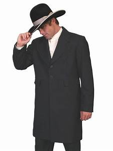 Scully Men's Old West Coat: Wahmaker Frock Coat with Black