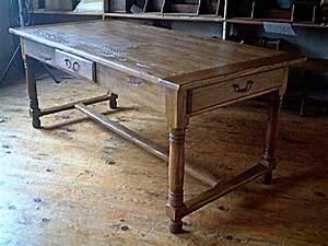 Table En Bois Massif Ancienne : table de ferme ancienne en chene massif table de lit ~ Teatrodelosmanantiales.com Idées de Décoration