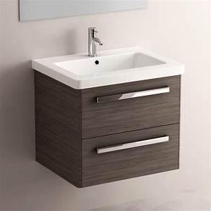 Meuble Vasque 60 : meuble salle de bain gris c rus 62 cm plan c ramique easy ~ Teatrodelosmanantiales.com Idées de Décoration