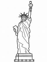 Liberty Statue Coloring France Drawing Sculpture Easy Printable Step Preschool Endearing Getcolorings Getdrawings sketch template
