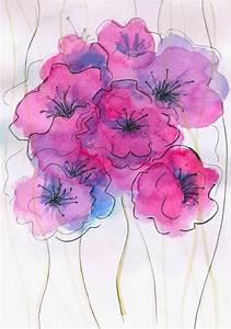 Abstract, Watercolor, Paintings, Of, Flowers, Part, 1, U2013, Weneedfun