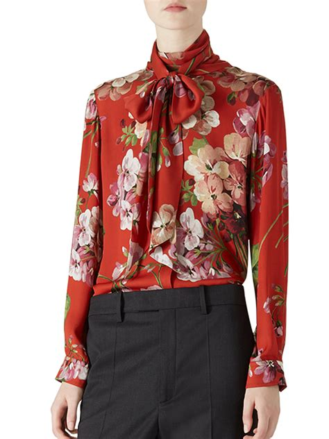gucci blouse gucci floral print blouse lyst