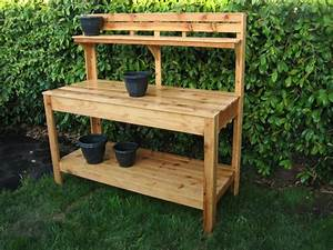 Plans a garden work bench plans diy free download how to for Garden potting bench ideas