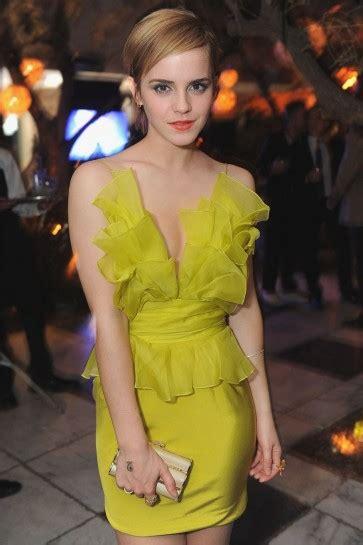 Emma Watson Short Red Carpet Dress Cocktail Celebrity