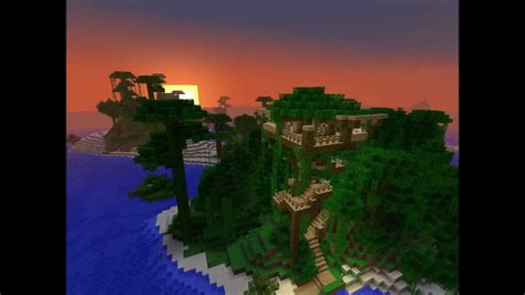 minecraft jungle tree house  nice seed seed outdated youtube