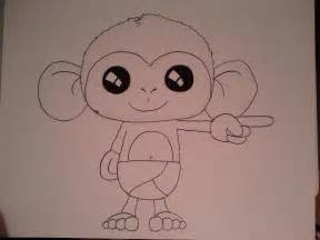 Cute Baby Monkey Drawing