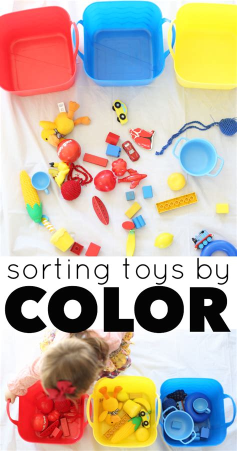 preschool activities for cognitive development this sorting toys by color activity is for 990