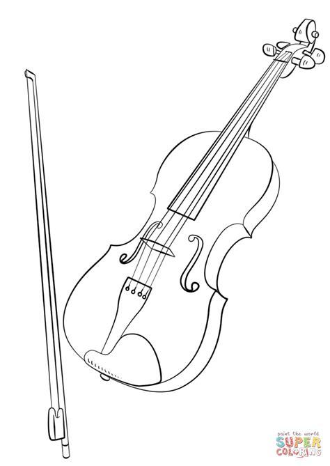 violin parts coloring pages