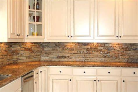 Stone Kitchen Backsplash Ideas : Kitchen Backsplash Natural Stone Ideas