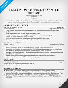 producer resume exles resume format resume for producer