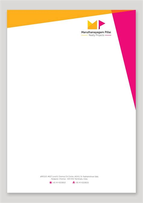 Company Stationery Template Pages by Best 25 Letterhead Design Ideas On Pinterest Letterhead