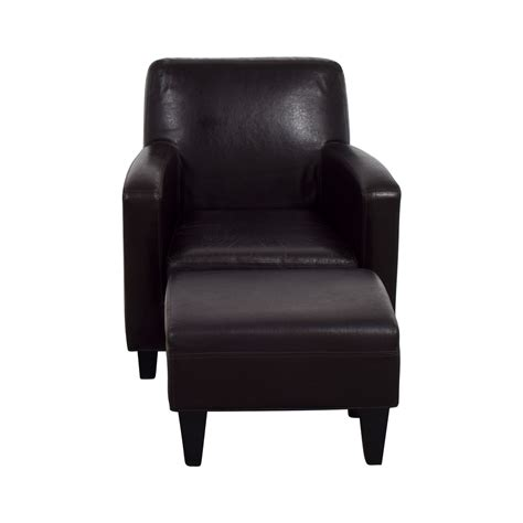 Ikea Leather by 52 Ikea Ikea Bonded Brown Leather Chair And Ottoman