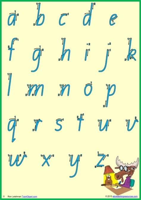 foundation handwriting letter number formation qld print