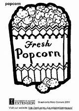 Popcorn Coloring Pages Drawing Sheet Clipart Printable Sheets Box Popular Coloringhome Edupics sketch template