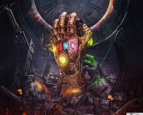 avengers endgame infinity gauntlet painting hd