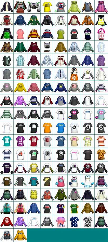 Splatoon Sheet Clothing Icons Gear Clothes Spriters
