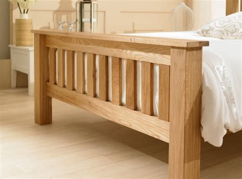 emporia richmond ft double solid oak bed frame